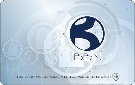 Carte anti RFID personnalisée BBN