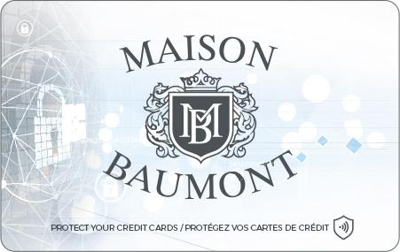 Carte anti RFID personnalisée Maison Baumont
