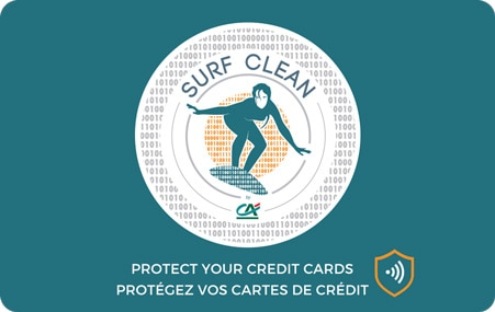Surf Clean Credit Agricole Sentinel Card Protection RFID NFC